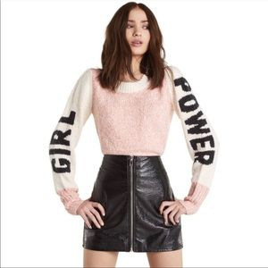 🆕 Wildfox Girl Power Distressed Sweater